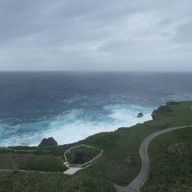東平安名崎から見た海