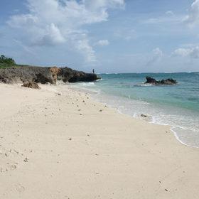 真っ白なムスヌン浜の砂