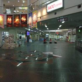 宮古空港の1階風景