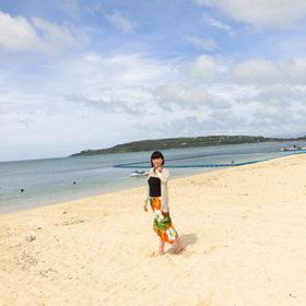 ウッパマビーチからの海の風景
