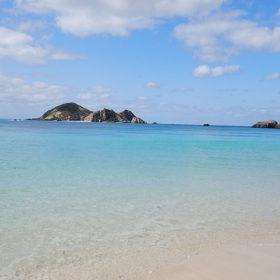 渡嘉敷島の阿波連ビーチからの風景