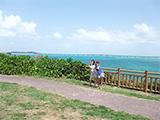 西平安名岬から見た海の景色