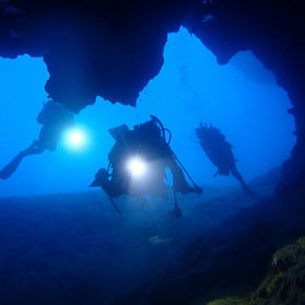 宮古島のトンネルがあるポイント