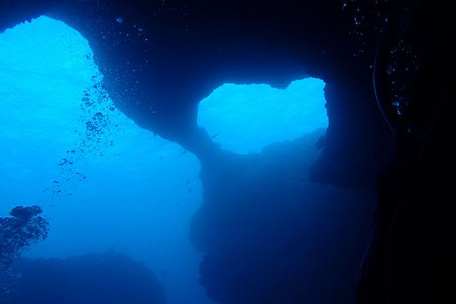 穴の中から見えるハート