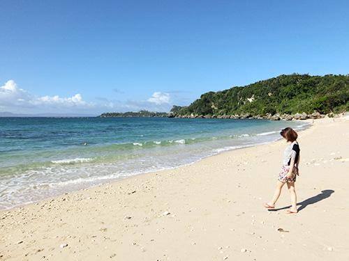 雰囲気の良い砂浜