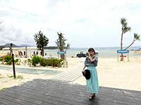セレブな雰囲気が漂うかりゆしビーチ