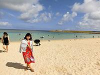 多くの客で賑わうトロピカルビーチ