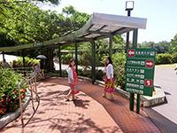 玉泉洞に入ろうとする観光客