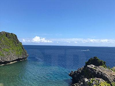 青の洞窟がある真栄田岬