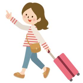 旅行中の女性