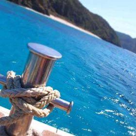 ボートから見える座間味島