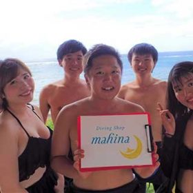 体験ダイビングで仲良くなったグループ