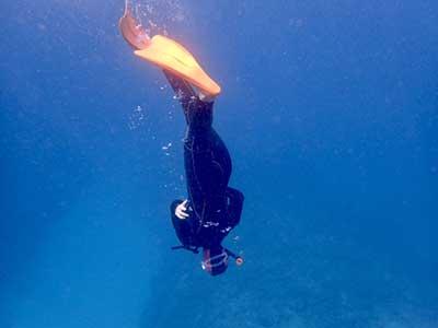 フィンを使いこなしているダイバー