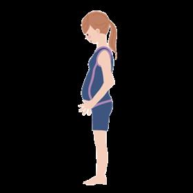 水着の妊婦