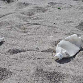 汚れた砂浜